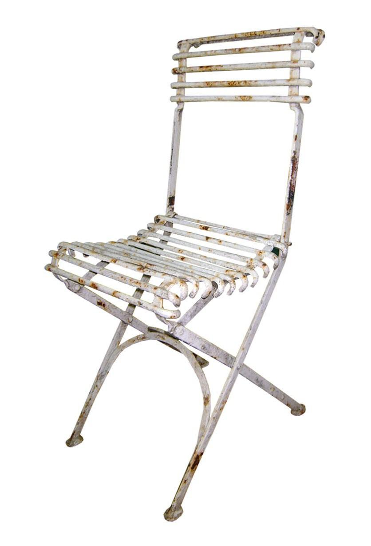 Chaise De Jardin Pliante En Métal Fer Forgé Style Arras pour Chaise De Jardin Metal Pliante
