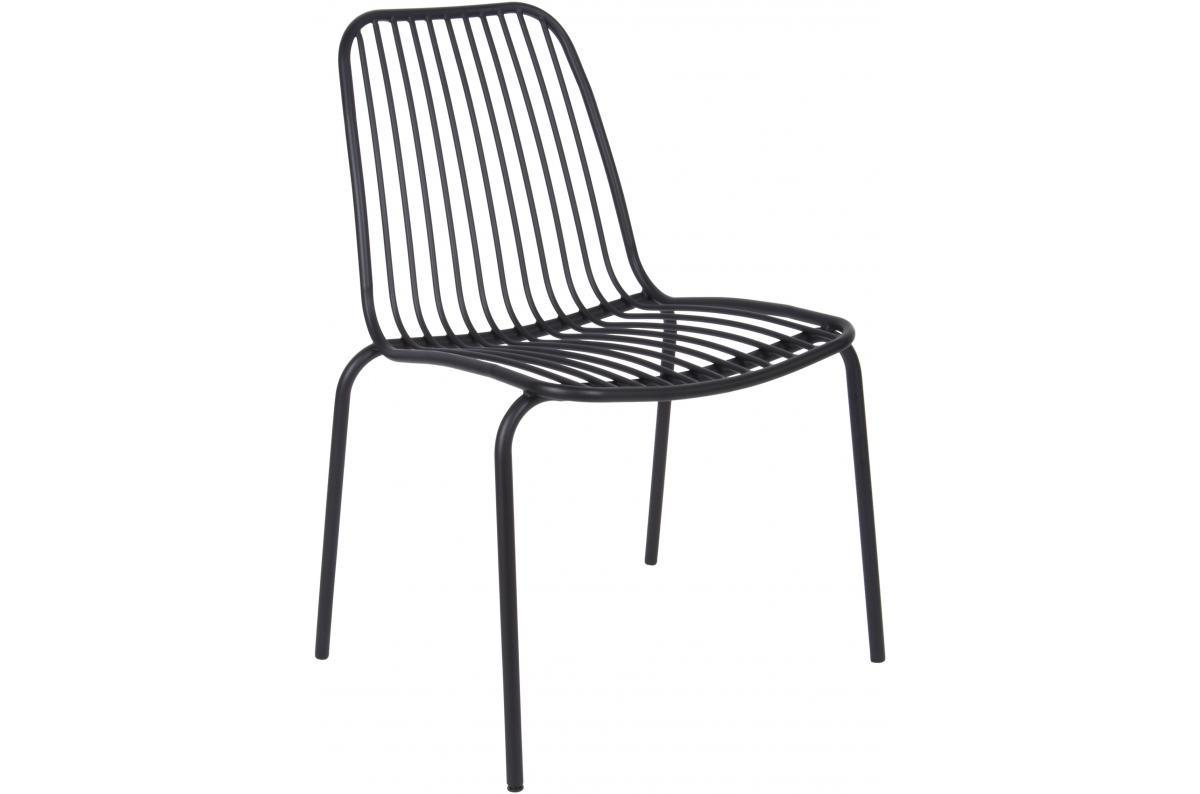 Chaise De Jardin Structure Filaire En Métal Noir Lina Plus D's avec Chaise De Jardin Métal