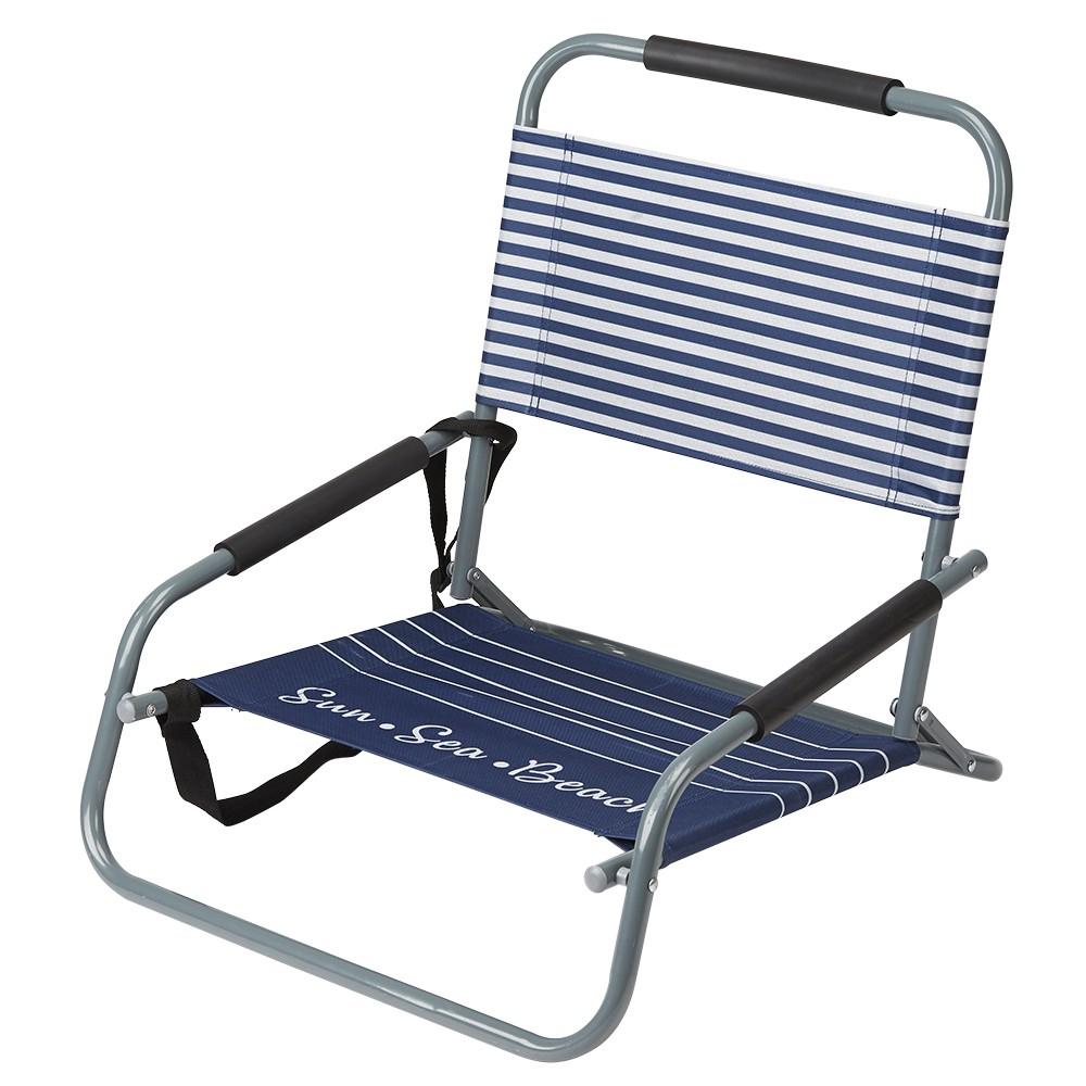 Chaise De Plage Basse Pliante Design Marine tout Chaise Basse Jardin
