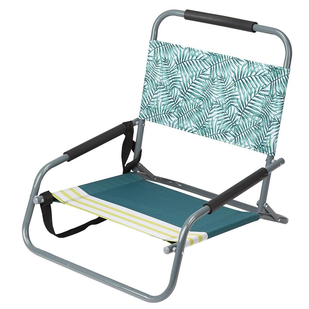 Chaise De Plage Basse Pliante Design Tropical destiné Chaise Basse Jardin