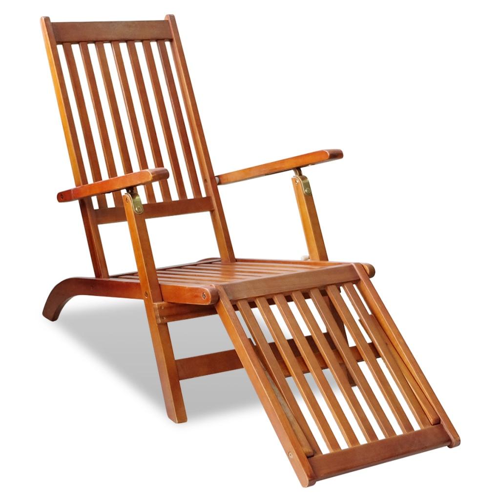 Chaise De Terrasse Retro Eucalyptus Fsc Siège De Plage ... encequiconcerne Chaise Basse Jardin