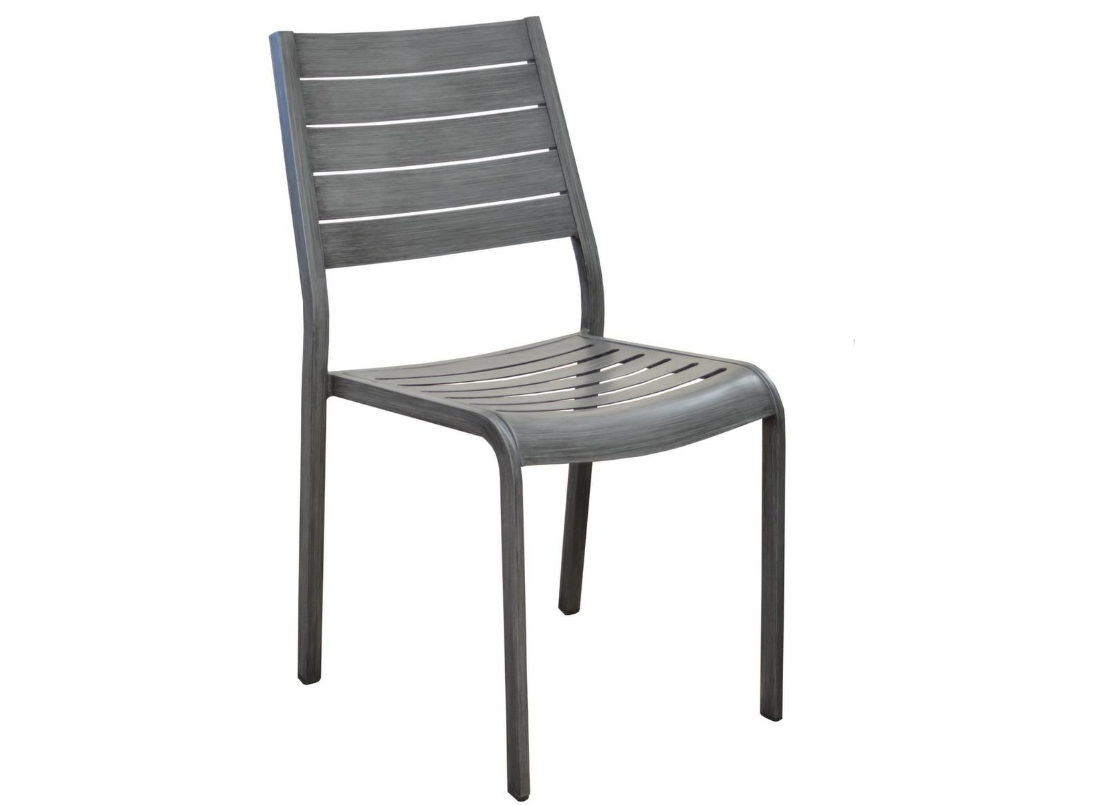 Chaise Flower (Finition Brush) à Chaise De Jardin Aluminium