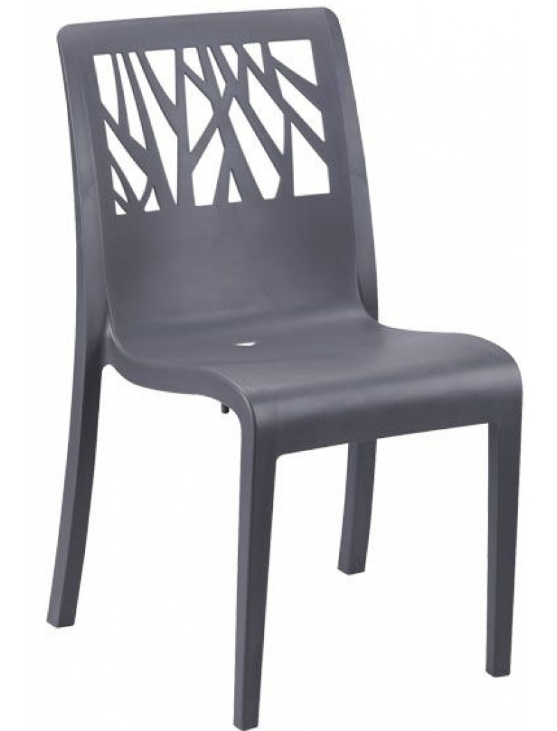Chaise Vegetal Anthracite encequiconcerne Grosfillex Chaise