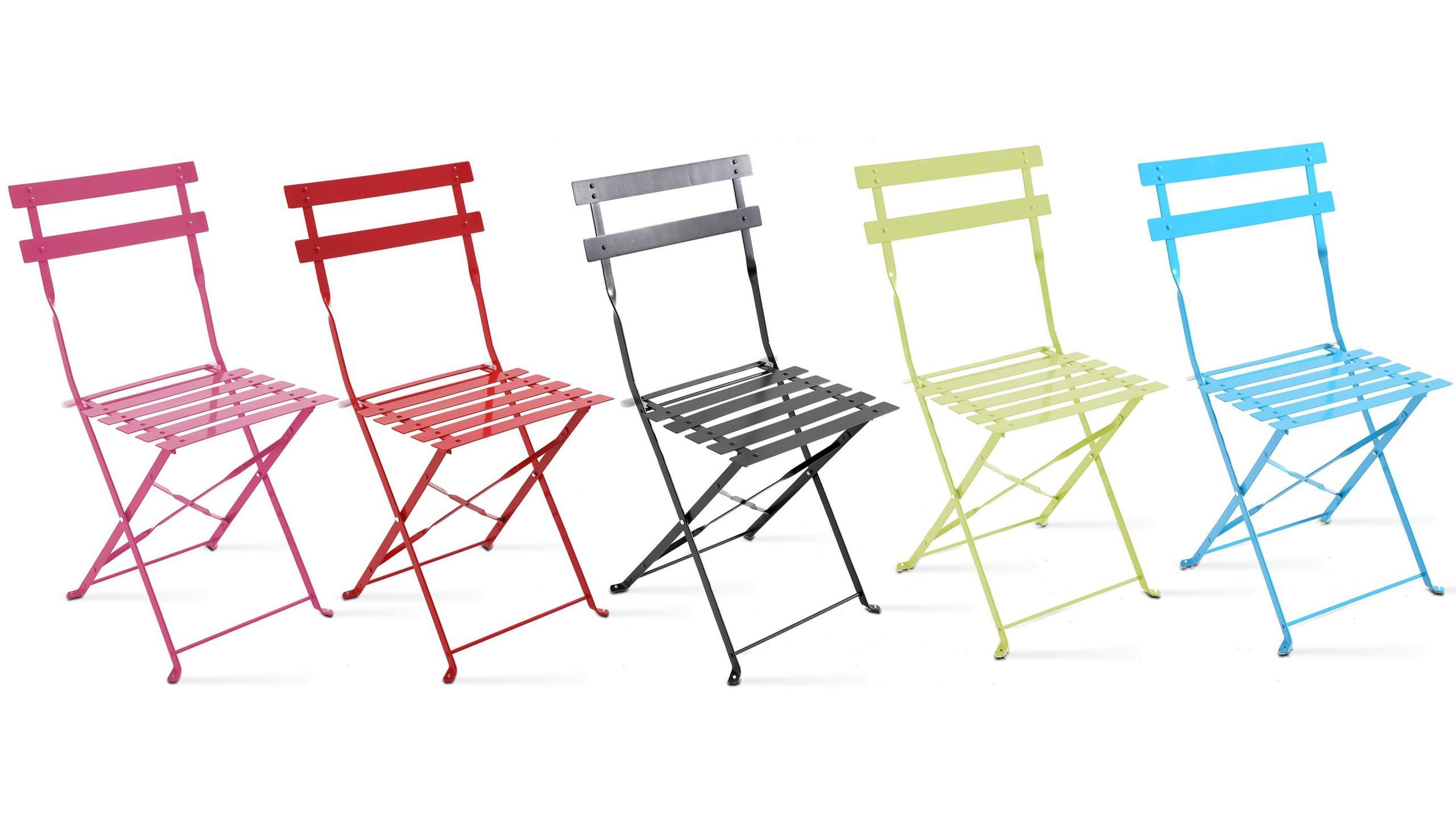 Chaises Bistrot De Jardin Pliantes tout Chaise De Jardin Metal Pliante