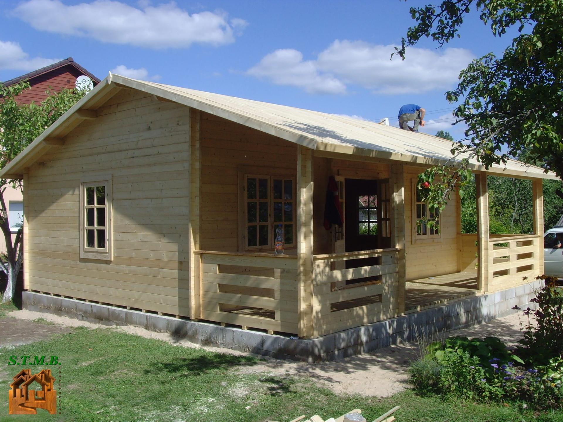Chalet Bois En Kit Rennes 56 M2 Avec Terrasse Couverte tout Bungalow Bois En Kit