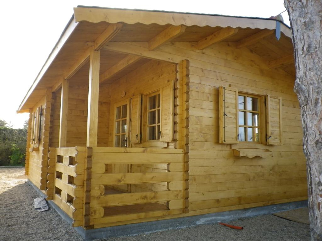 Chalet Habitable De Loisirs 40M2 En Bois En Kit avec Chalet En Bois En Kit Habitable Pas Cher