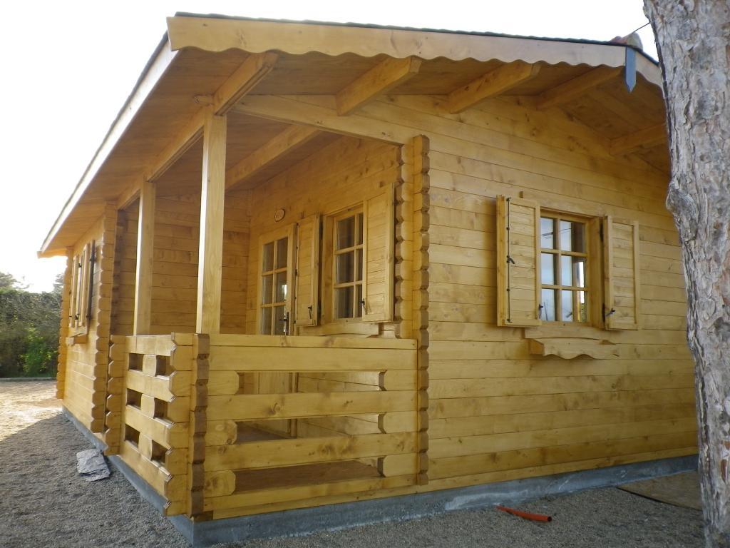 Chalet Habitable De Loisirs 40M2 En Bois En Kit destiné Chalet En Bois Habitable 20M2