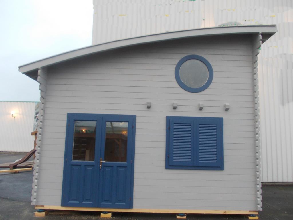 Chalet Habitable Lille 20M² + Mezzanine 10M² En Bois En Kit ... avec Chalet Bois 10M2