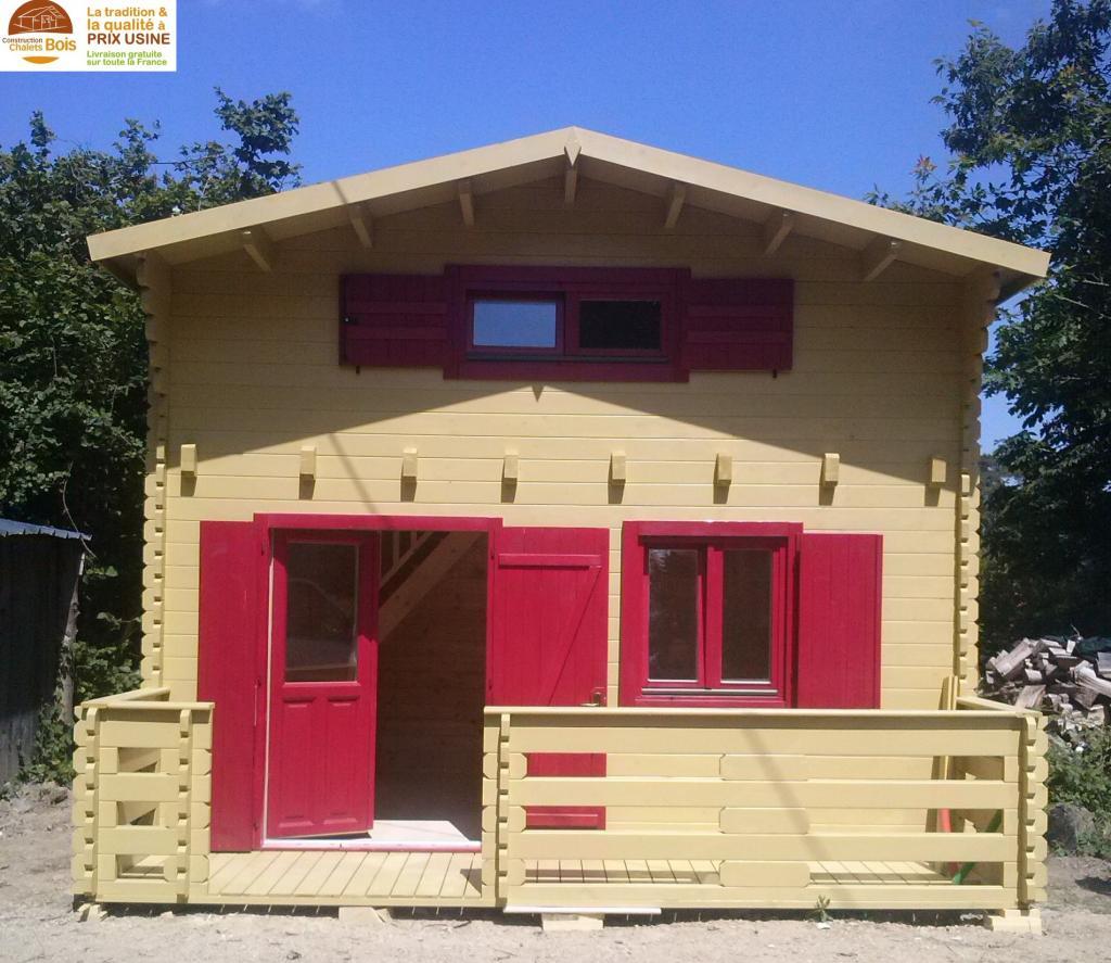Chalet Habitable Paris 20M²+ Mezzanine 10M² En Bois En Kit ... pour Chalet Bois Habitable 20M2