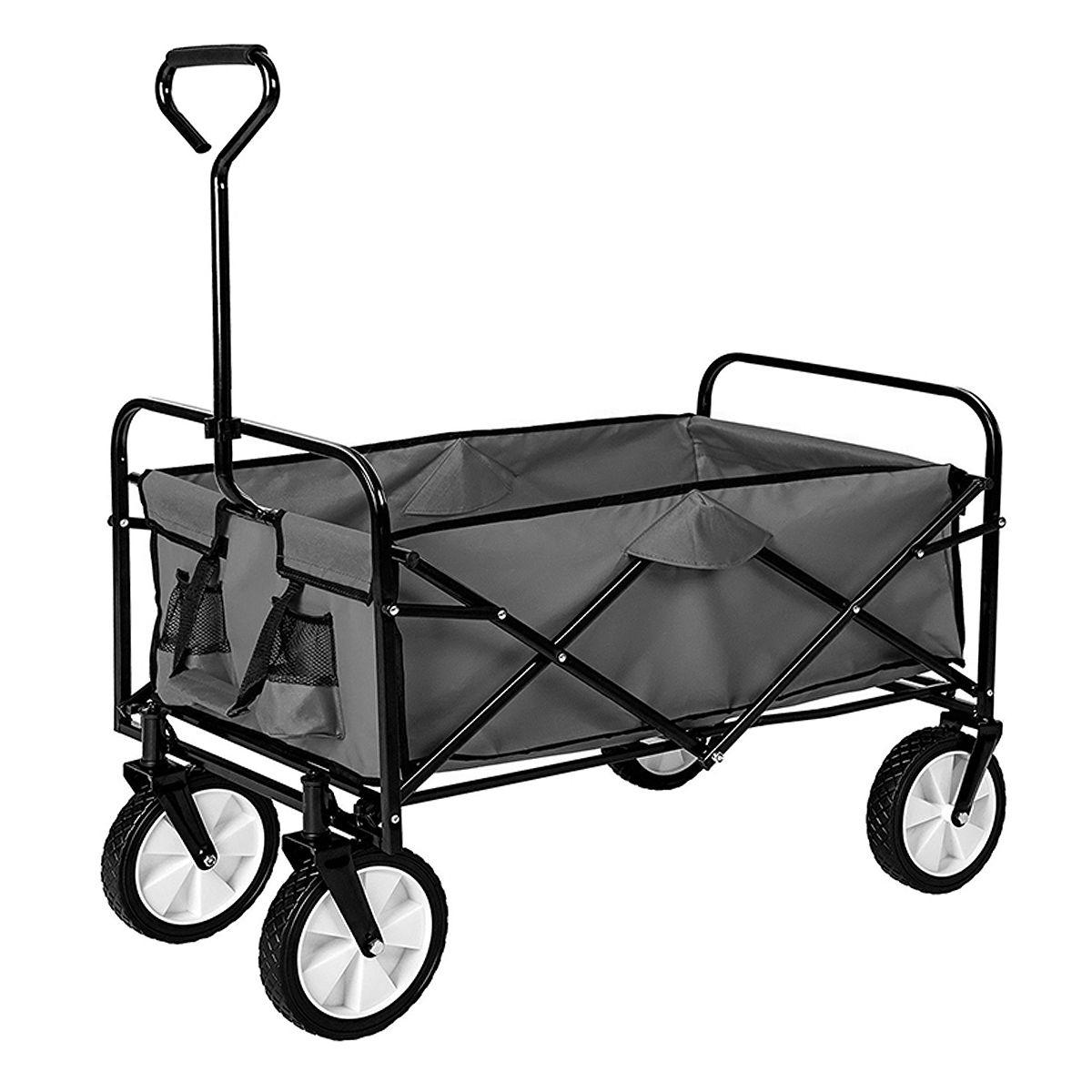 Chariot De Jardin Pliable - Remorque À Main 4 Roues ... serapportantà Chariot Remorque Jardin