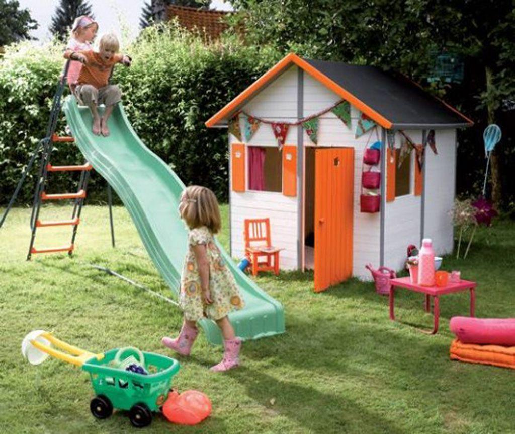 Cheerful Kids House Toys | Jardin Pour Enfants, Cabane ... serapportantà Jeux De Jardin Enfant