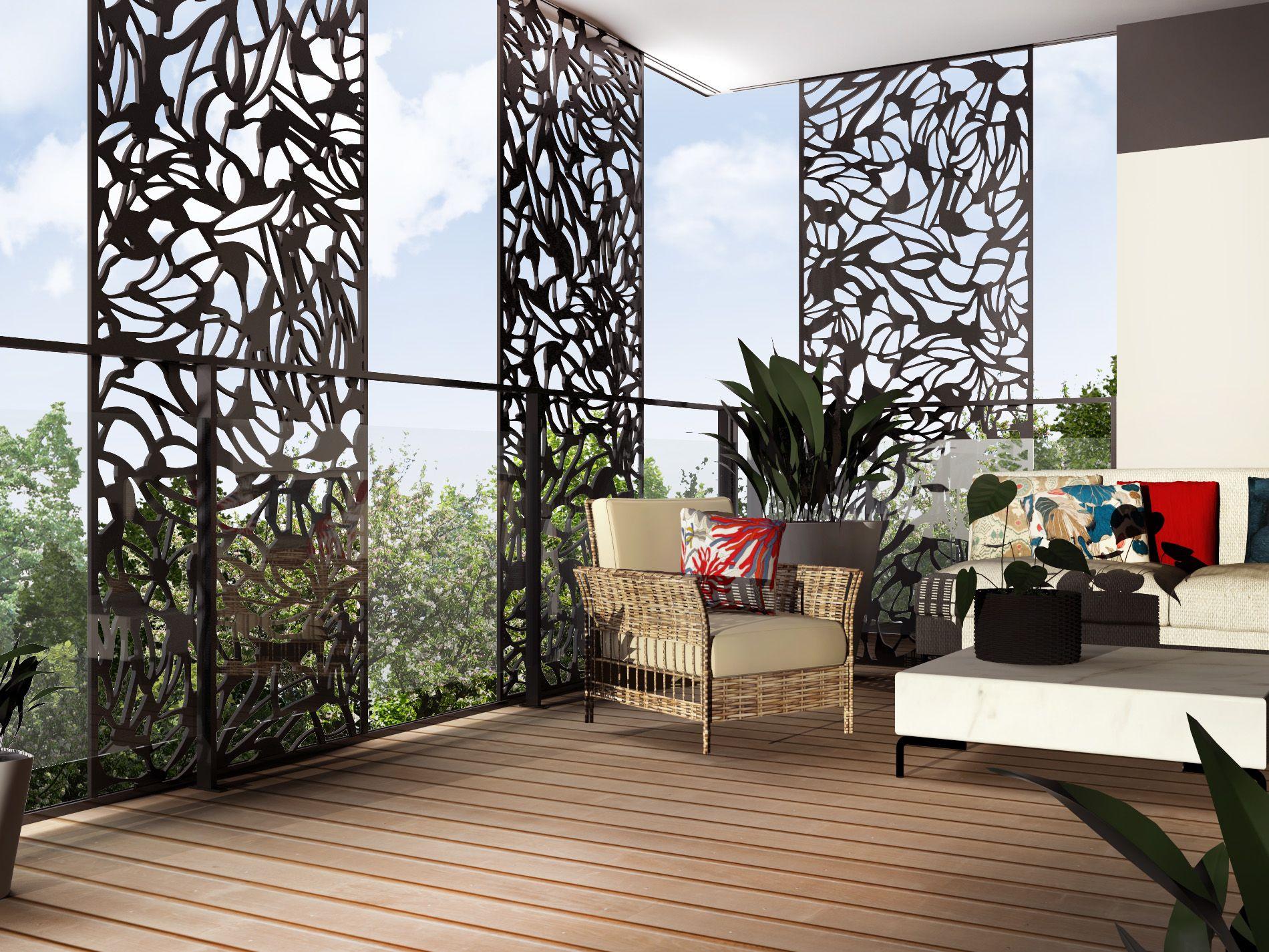 Claustra Décorative | Balcon | Terrasse | Brise-Vue | Brise ... avec Claustra Pour Jardin