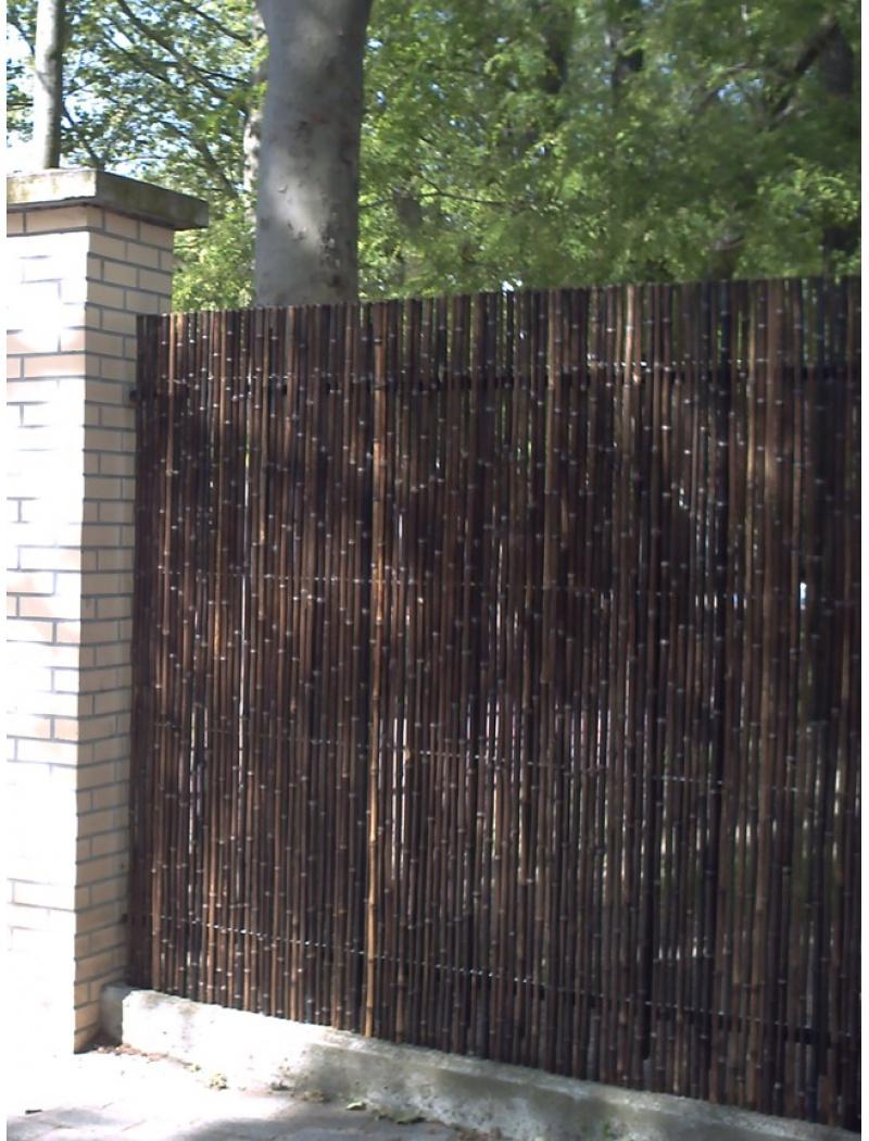 Clôture Tradition Naturel Noir Ø 5 Cm pour Brise Vue Cloture Jardin