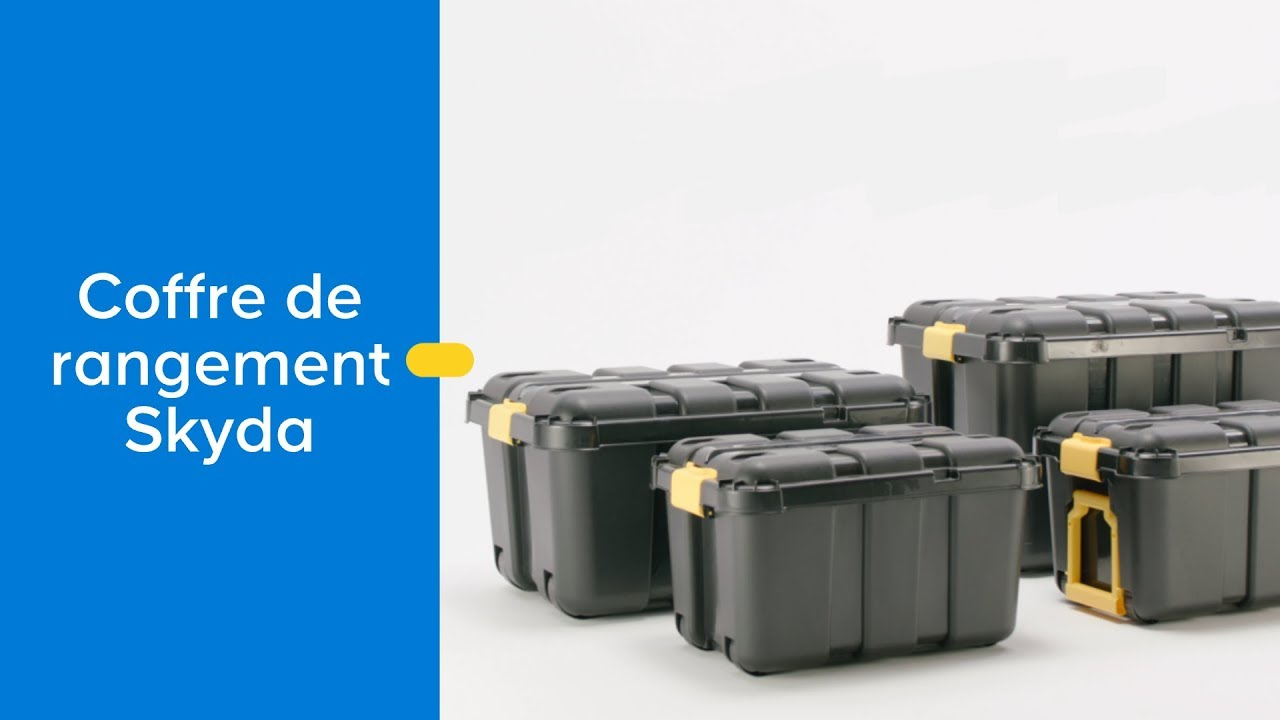 Coffre De Rangement En Plastique Skyda - Castorama pour Coffre De Rangement Exterieur Castorama