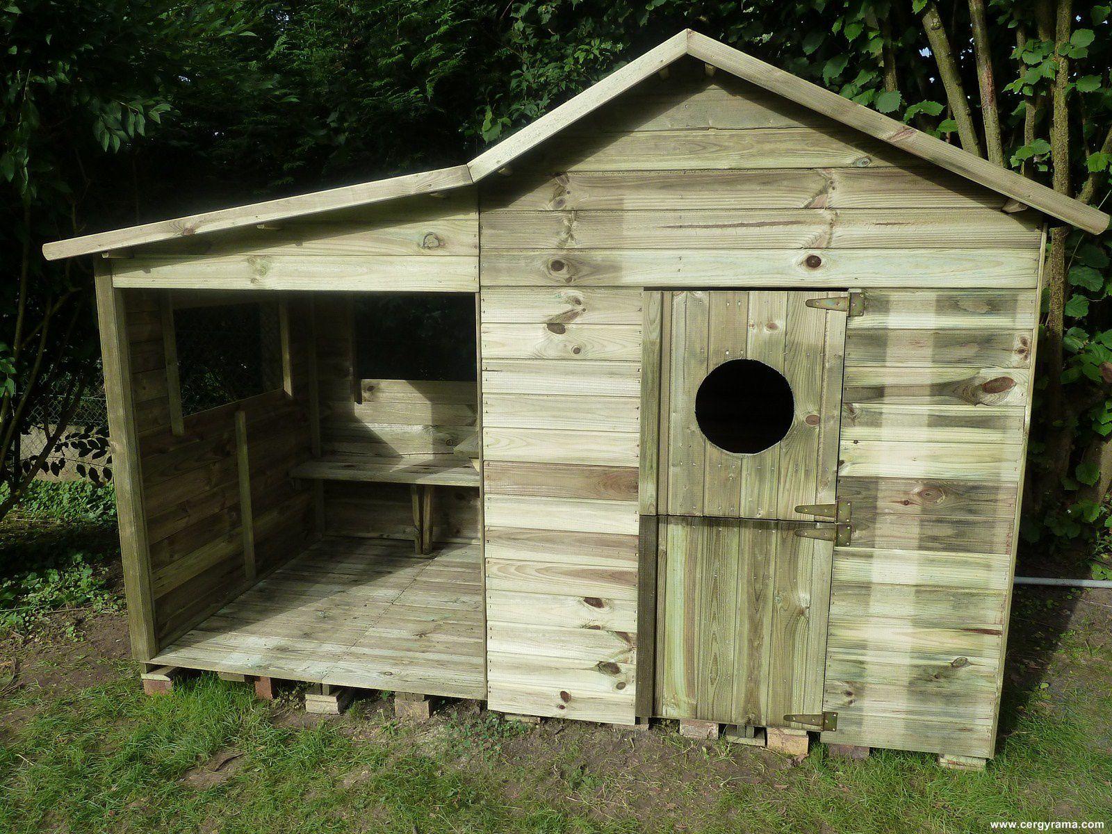 Comment Aménager Une Maisonnette De Jardin En Bois - Cergyrama intérieur Maisonnette De Jardin En Bois