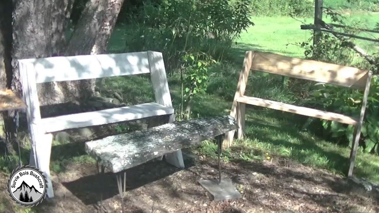 Comment Fabriquer Un Banc Léopold - Projet En Bois Pour Le Jardin ! intérieur Fabriquer Un Banc De Jardin