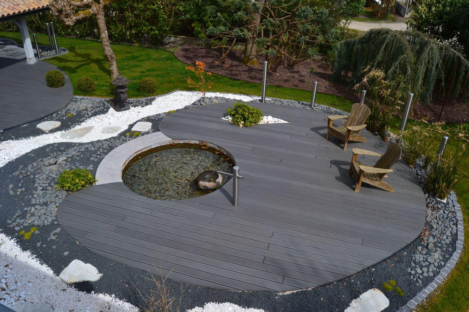 Conception Et Aménagement D'un Jardin Zen Par Un Paysagiste ... tout Aménagement Du Jardin Photo