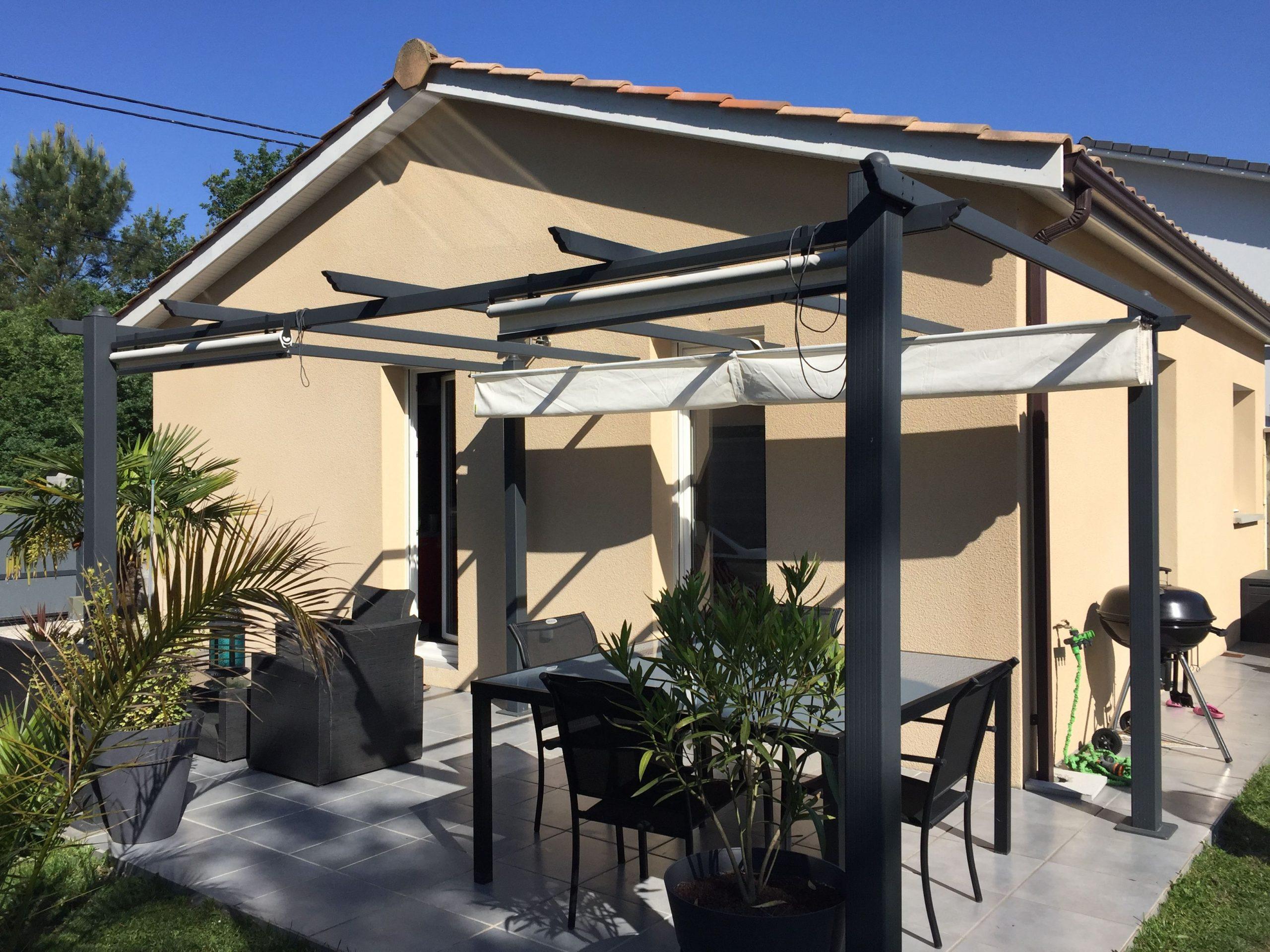 Condate Pergola Alice's Garden : Aluminium 3X3M Avec Toile ... destiné Alice Garden Tonnelle