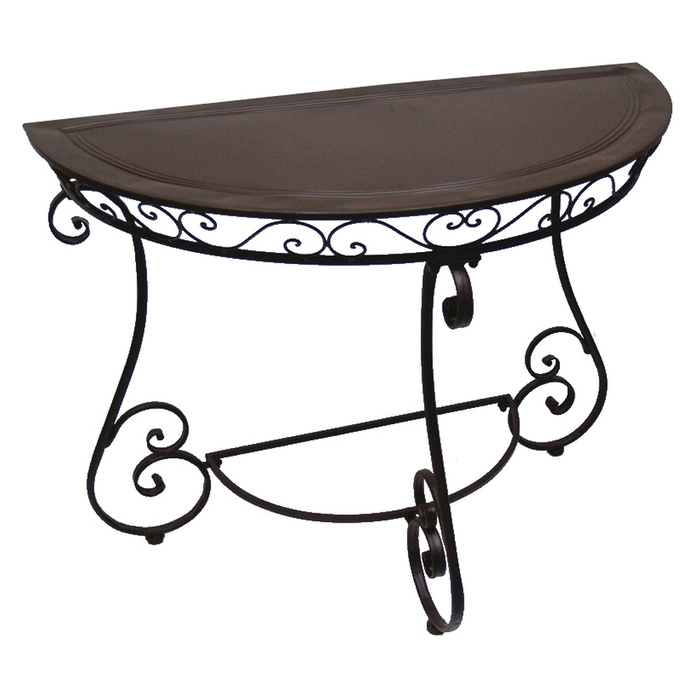 Console Table Demi-Lune Fer Forge Charme pour Decoration Fer Forge Pas Cher