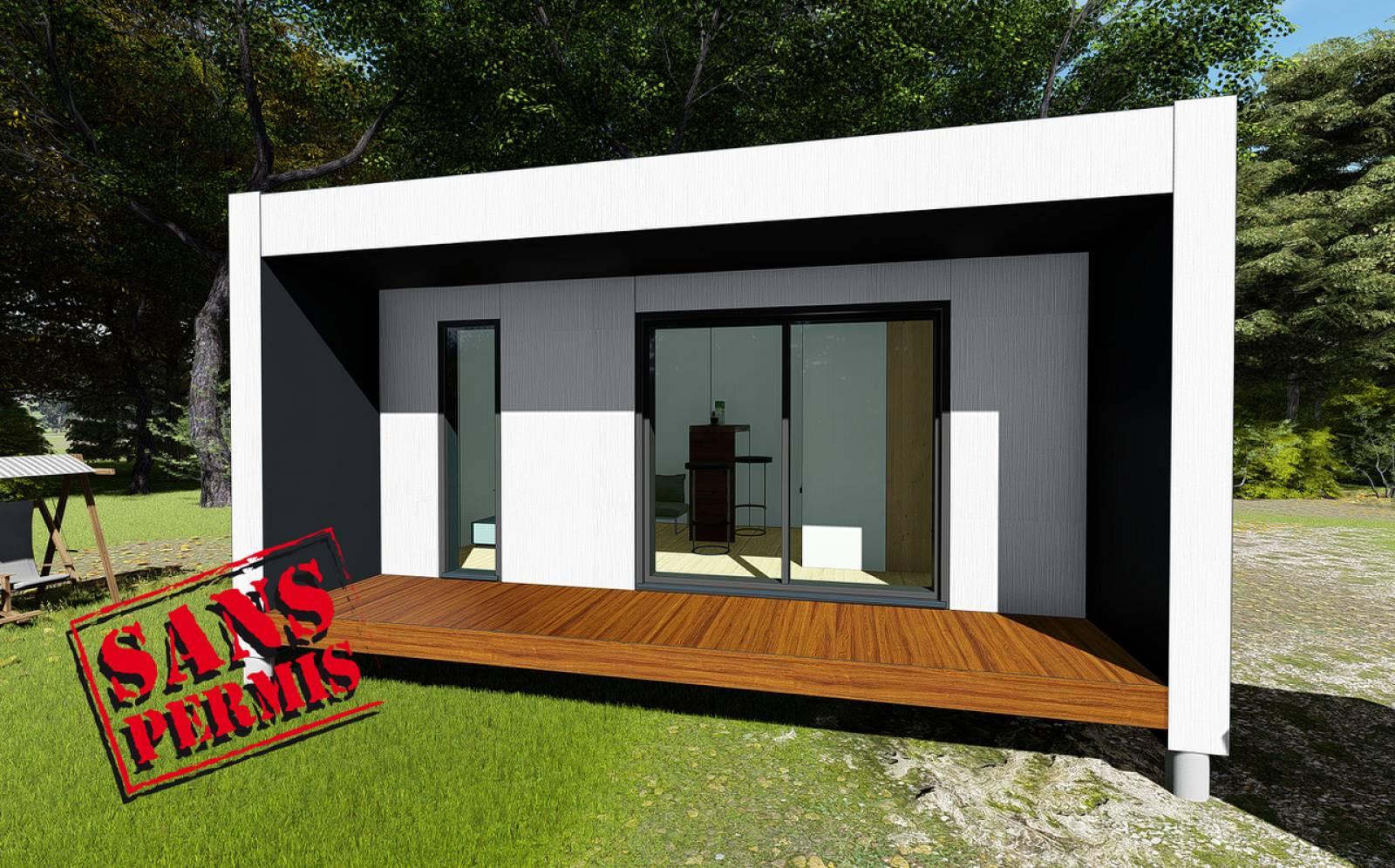 Construction De Studios En Bois Sans Permis De Construire À ... tout Abri Jardin 30M2