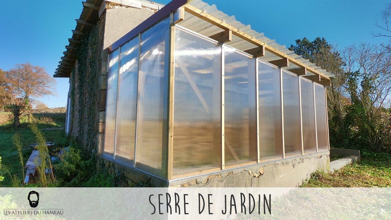 Construction D'une Serre intérieur Serre Polycarbonate 12M2