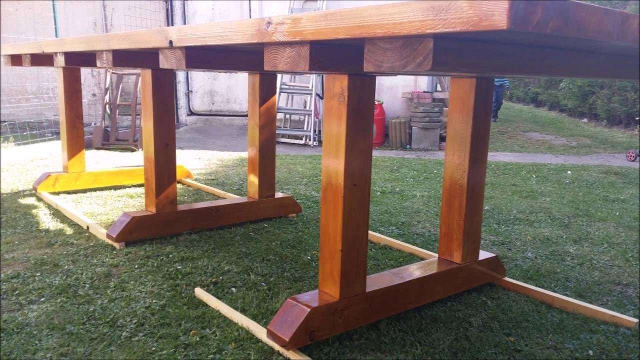 Construction D'une Table De Salon De Jardin serapportantà Table De Jardin En Bois Pliante