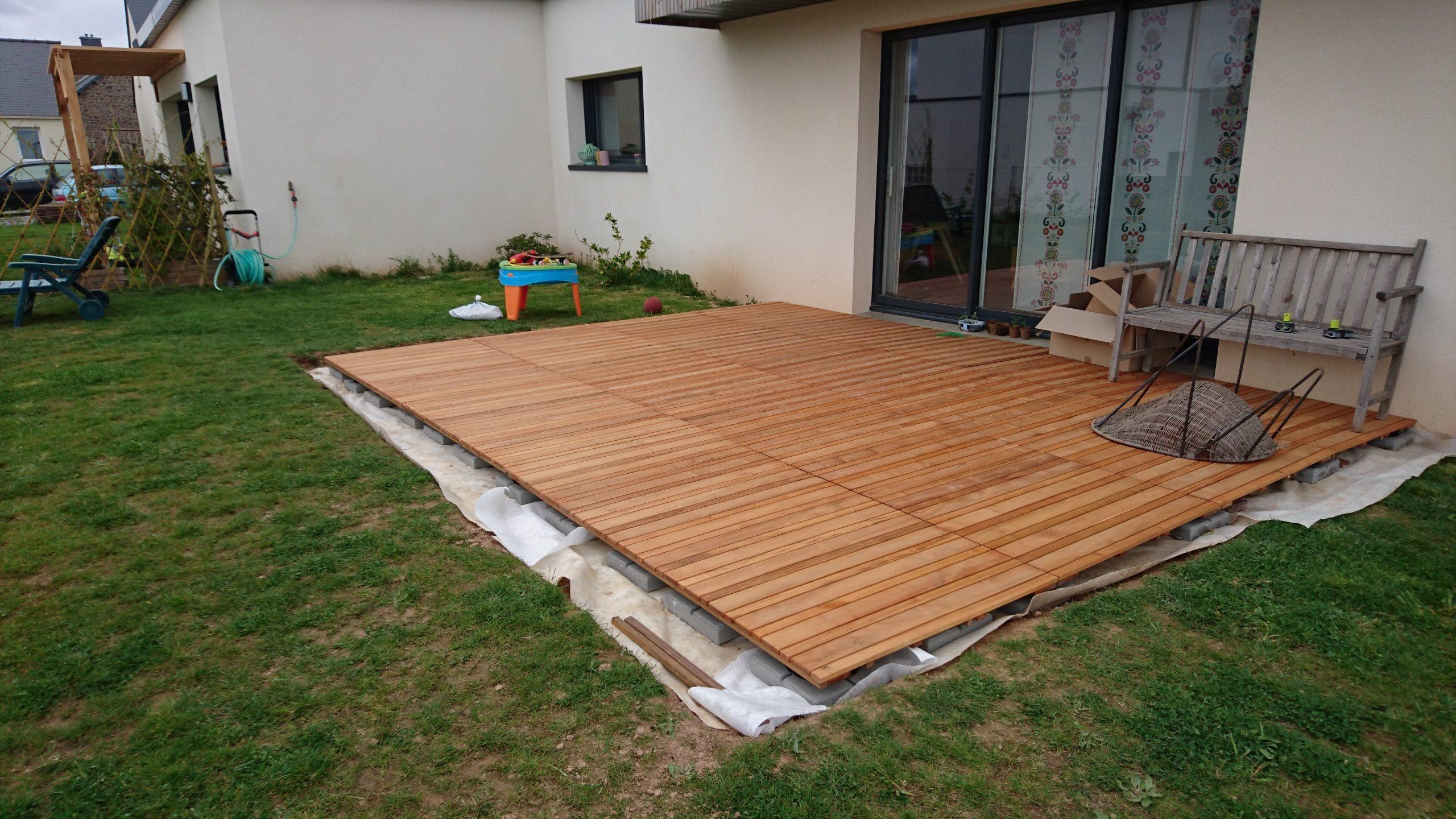 Construire Sa Terrasse Sur De La Terre Meuble - Construction ... dedans Caillebotis Pas Cher