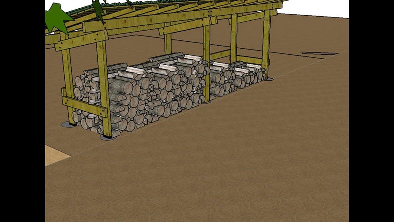 Construire Un Abri Pour Le Bois De Chauffage Explications En Images 3D serapportantà Construire Abri Bois