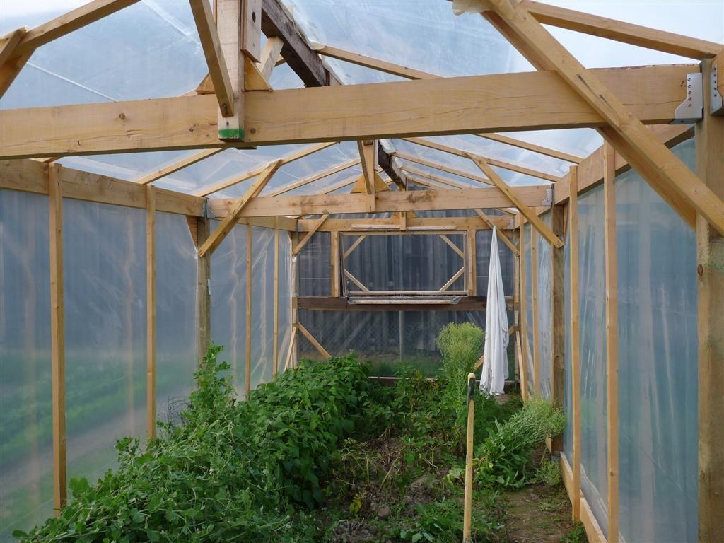 Construire Une Serre De Jardin En Bois - Retour D'expérience ... encequiconcerne Construire Une Serre De Jardin