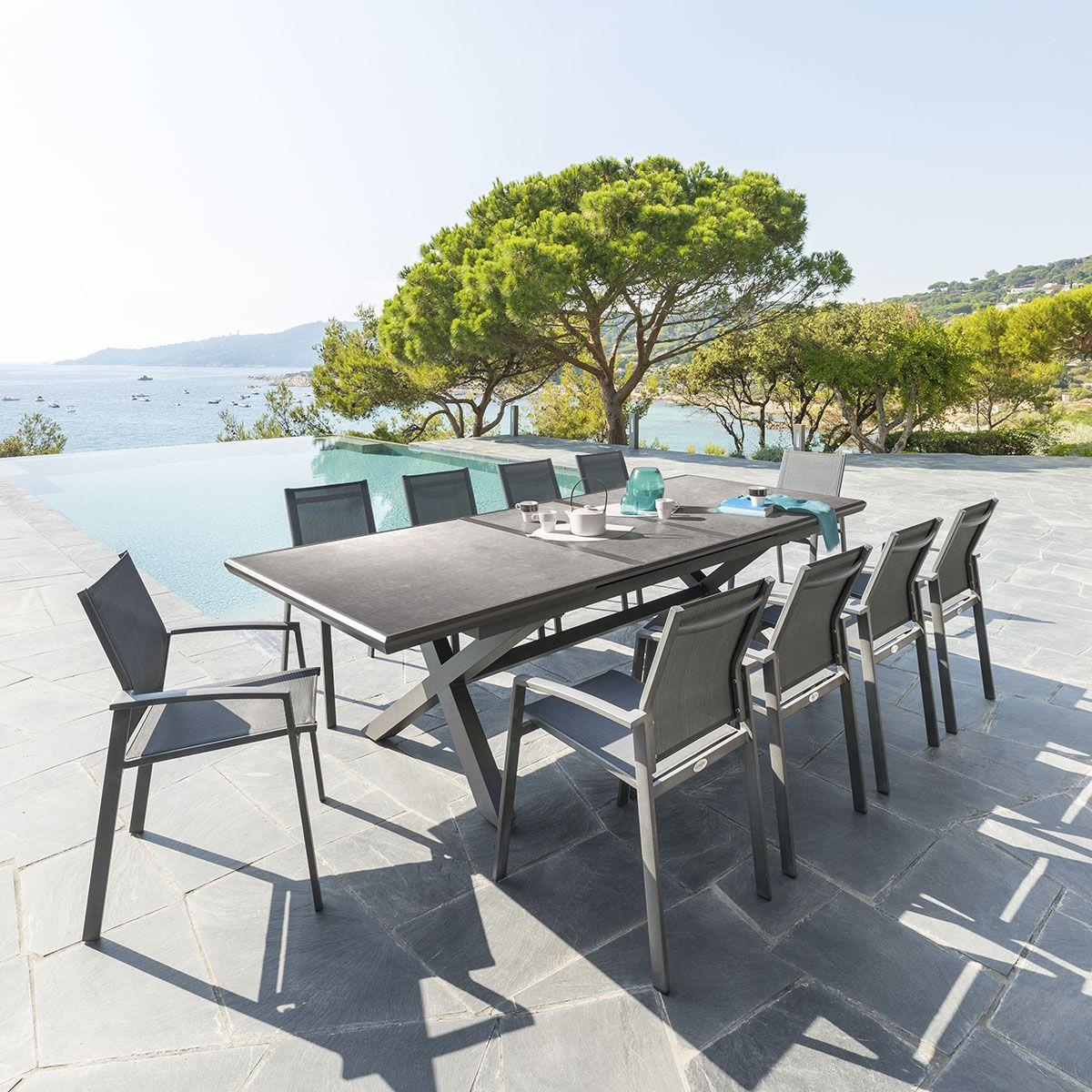 Conviez Vos Amis En Toute Tranquillité Avec La Table De ... avec Salon De Jardin Hubo