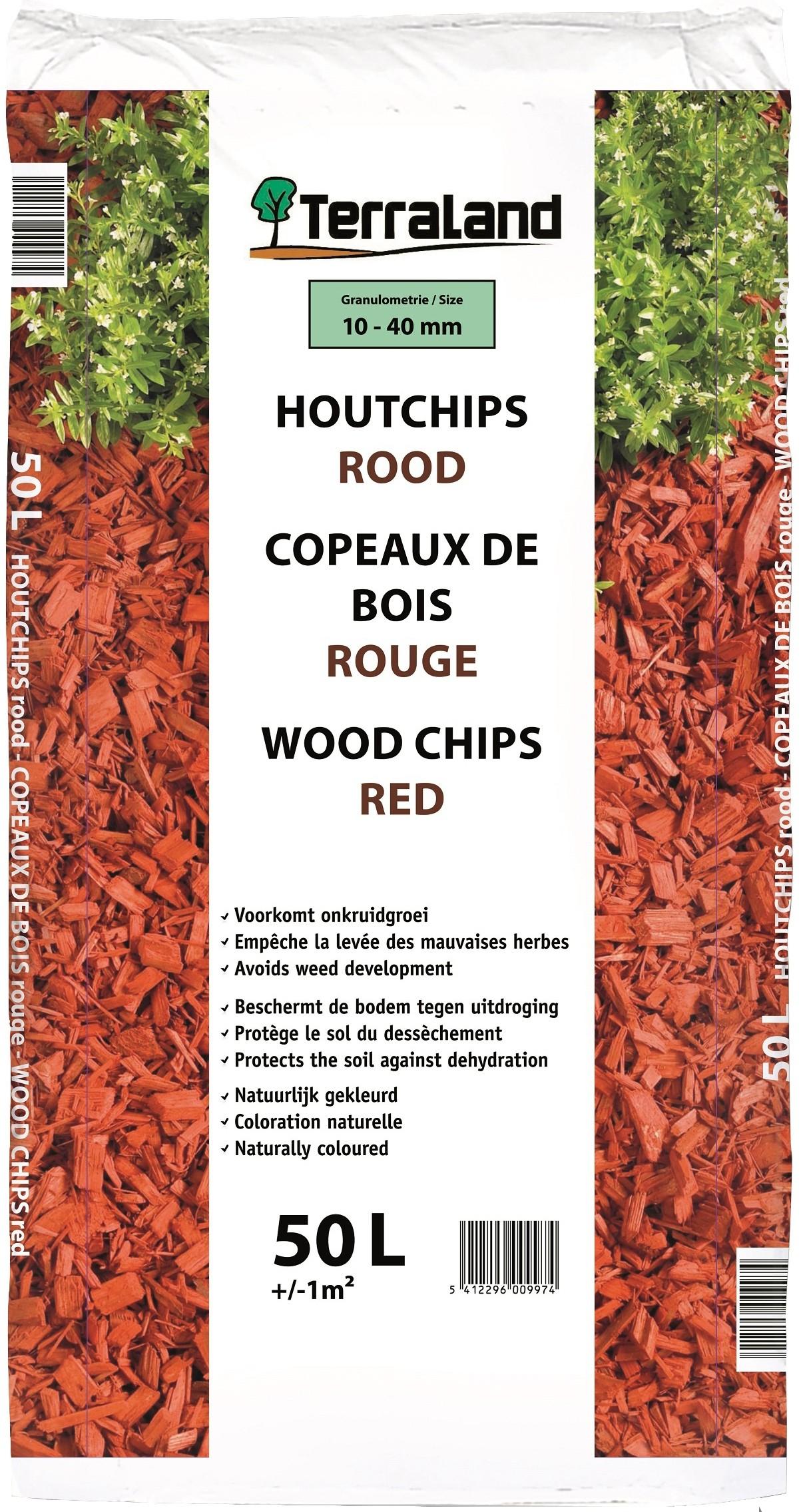 Copeaux De Bois Rouge 50 L Terraland - Mr.bricolage dedans Copeaux Bois Jardin