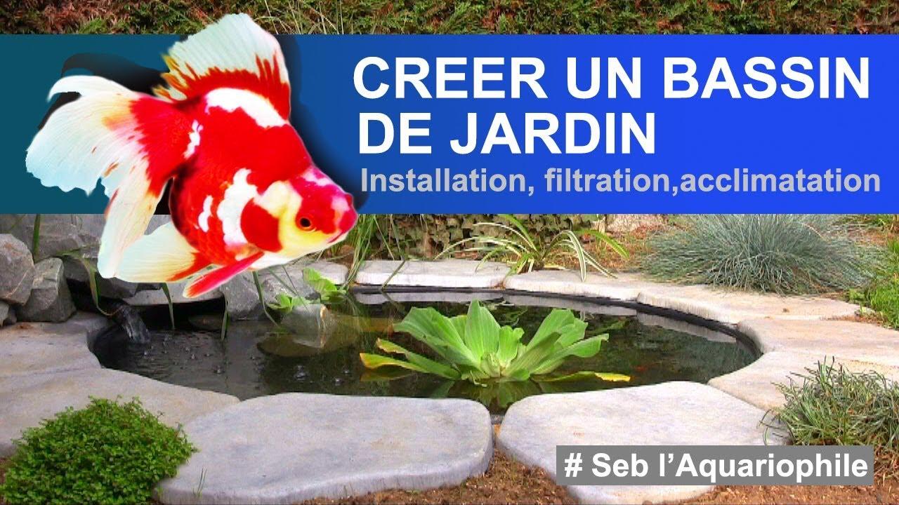 Créer Un Bassin , Construire Un Bassin De Jardin ✔ serapportantà Faire Un Bassin De Jardin