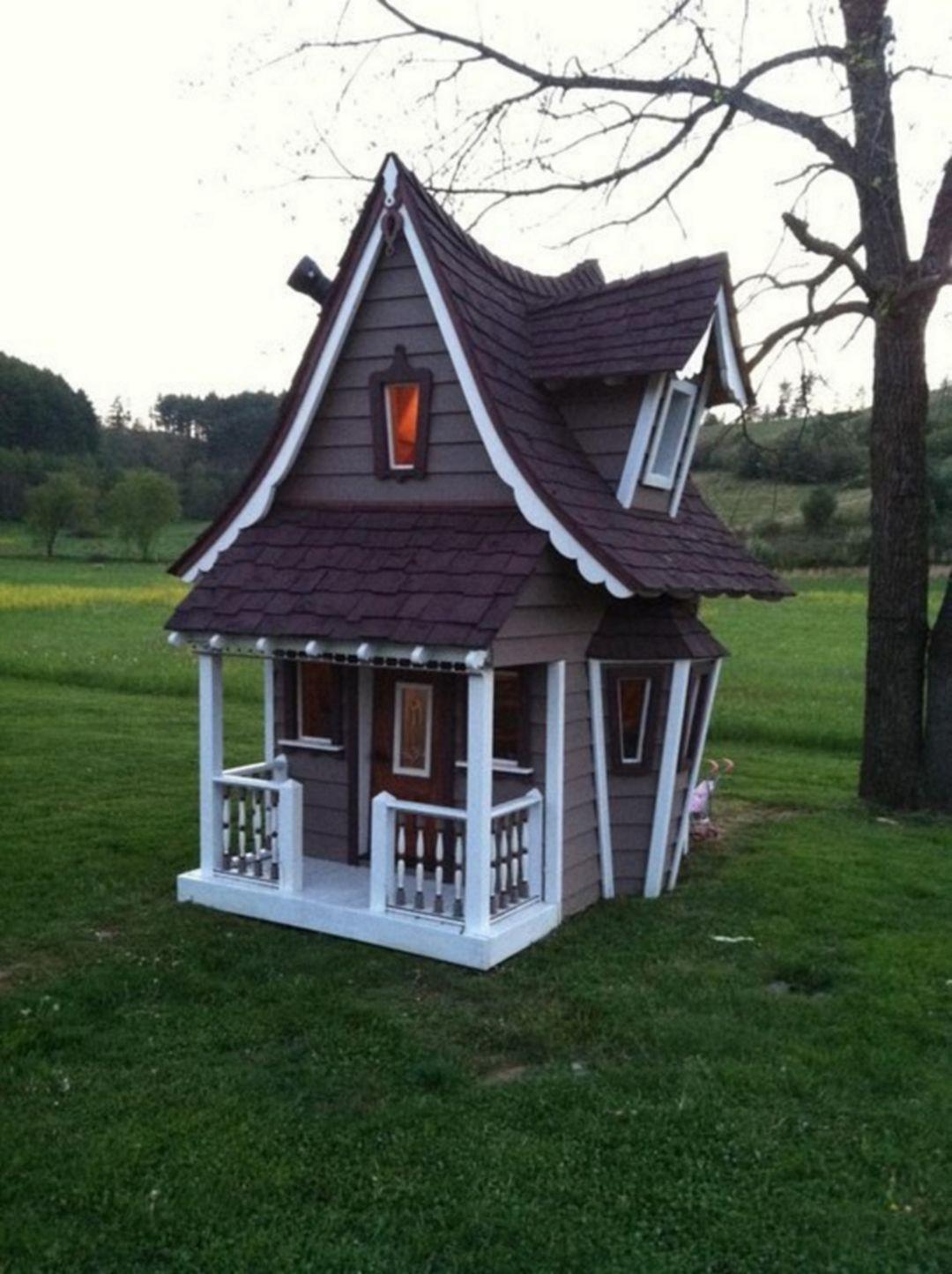 Crooked House111 | Maison De Rêve, Maisonnette En Bois Et ... dedans Maison Jardin Enfant