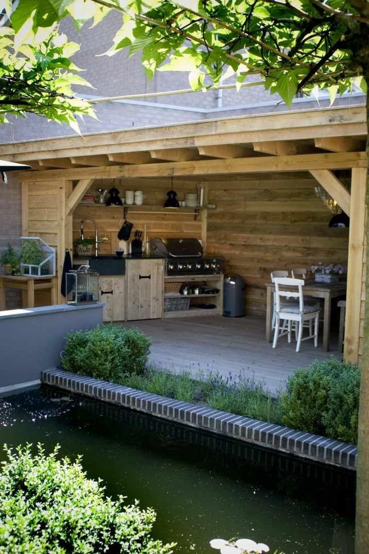 Déco De Cuisine Extérieure Avec Barnecue Fixe | Sweam ... concernant Deco De Jardin Moderne