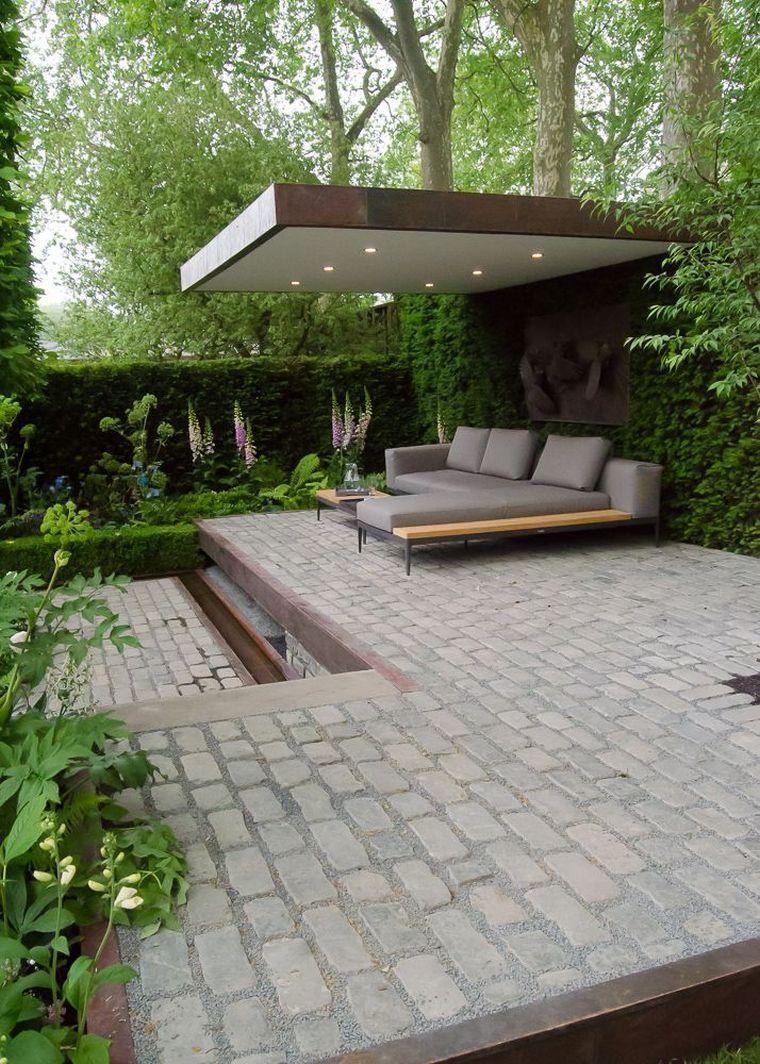 Déco D'extérieur De Jardin Pinterest Et Pergola Moderne Avec ... dedans Decoration D Un Petit Jardin
