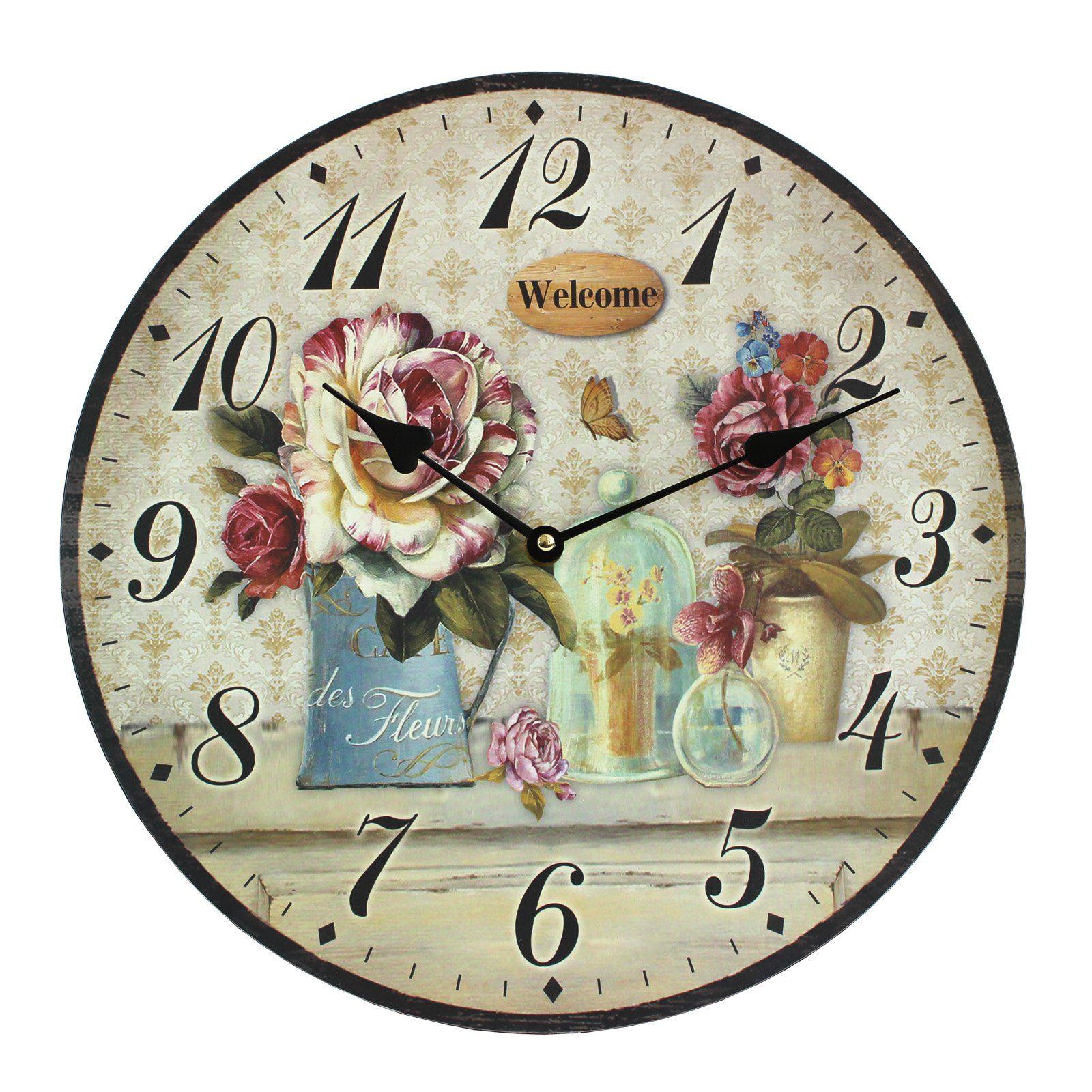 Décoration De La Maison De Style Vintage Shabby Chic En Mdf ... avec Horloge De Jardin