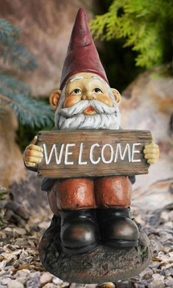 Décorez Votre Cour Avec Les Nains De Jardin!   Gnome De ... à L'histoire Du Nain De Jardin