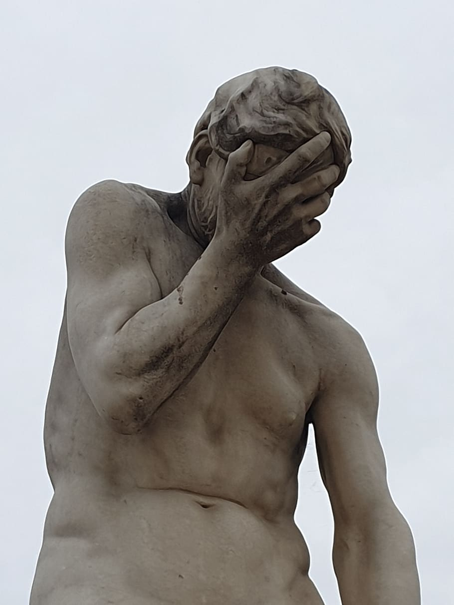 Despair, Jardin Des Tuileries, Paris, Statue, Sculpture ... encequiconcerne Statuette De Jardin