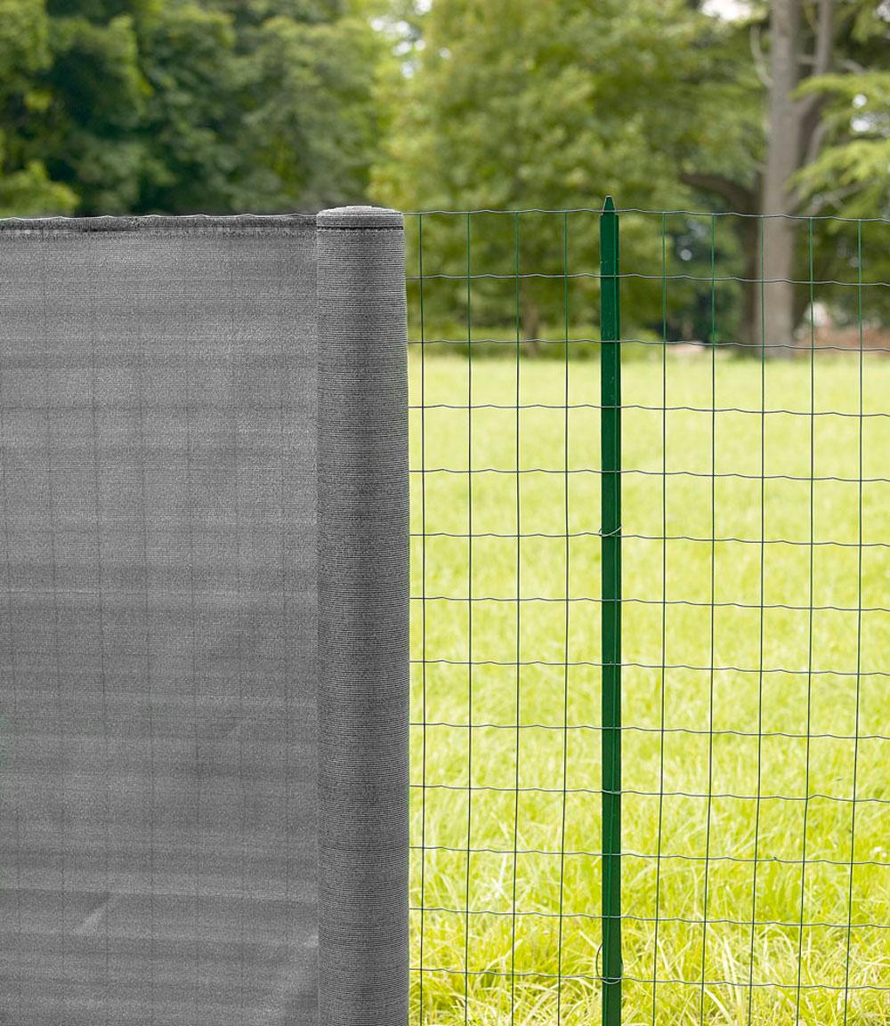 Destockage - Filet Brise-Vue En Toile 200 G/m² - Lg. 25 M Gris Acier pour Brise Vue Pour Grillage Rigide