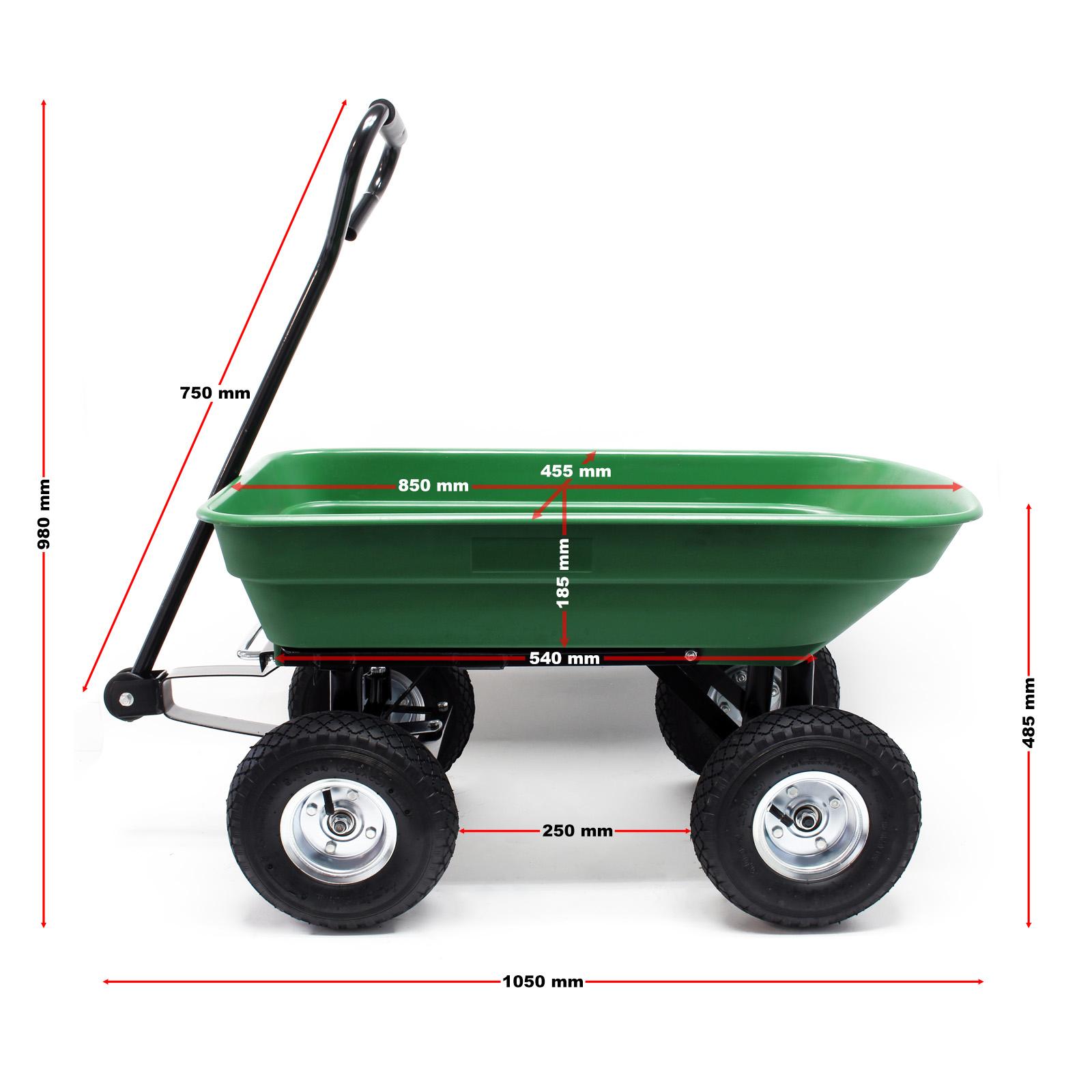 Détails Sur Chariot De Jardin À Main 55L Capacité 200Kg Benne Basculante  Remorque Brouette avec Chariot Remorque Jardin