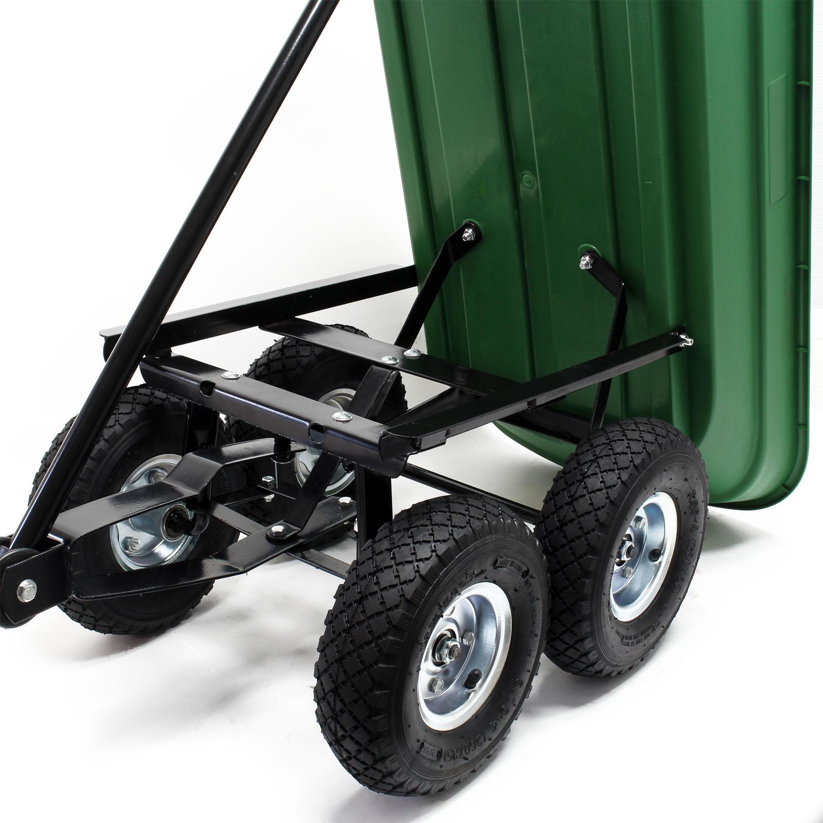 Détails Sur Chariot De Jardin À Main 55L Capacité 200Kg Benne Basculante  Remorque Brouette dedans Chariot Remorque Jardin