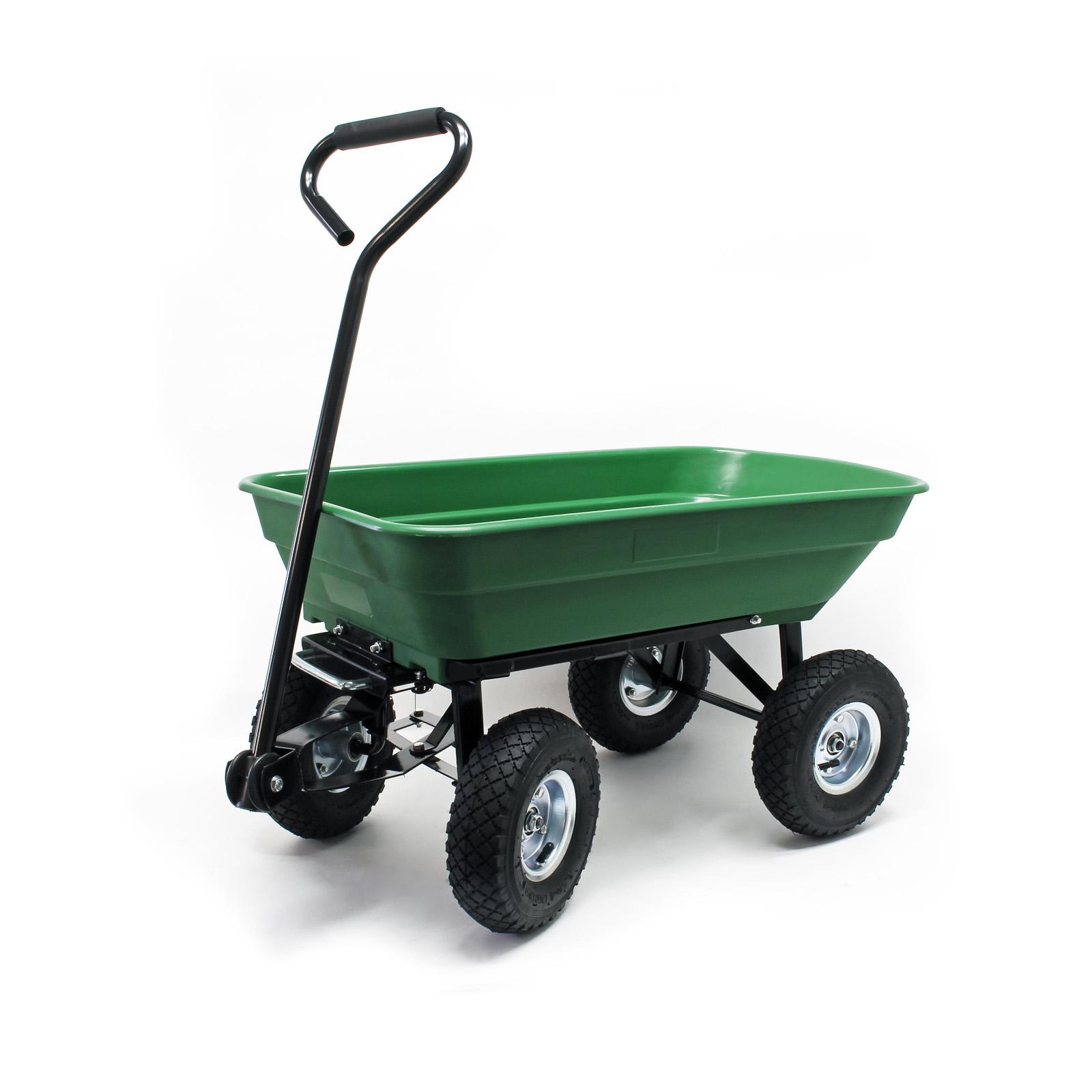 Détails Sur Chariot De Jardin À Main 55L Capacité 200Kg Benne Basculante  Remorque Brouette serapportantà Chariot Remorque Jardin