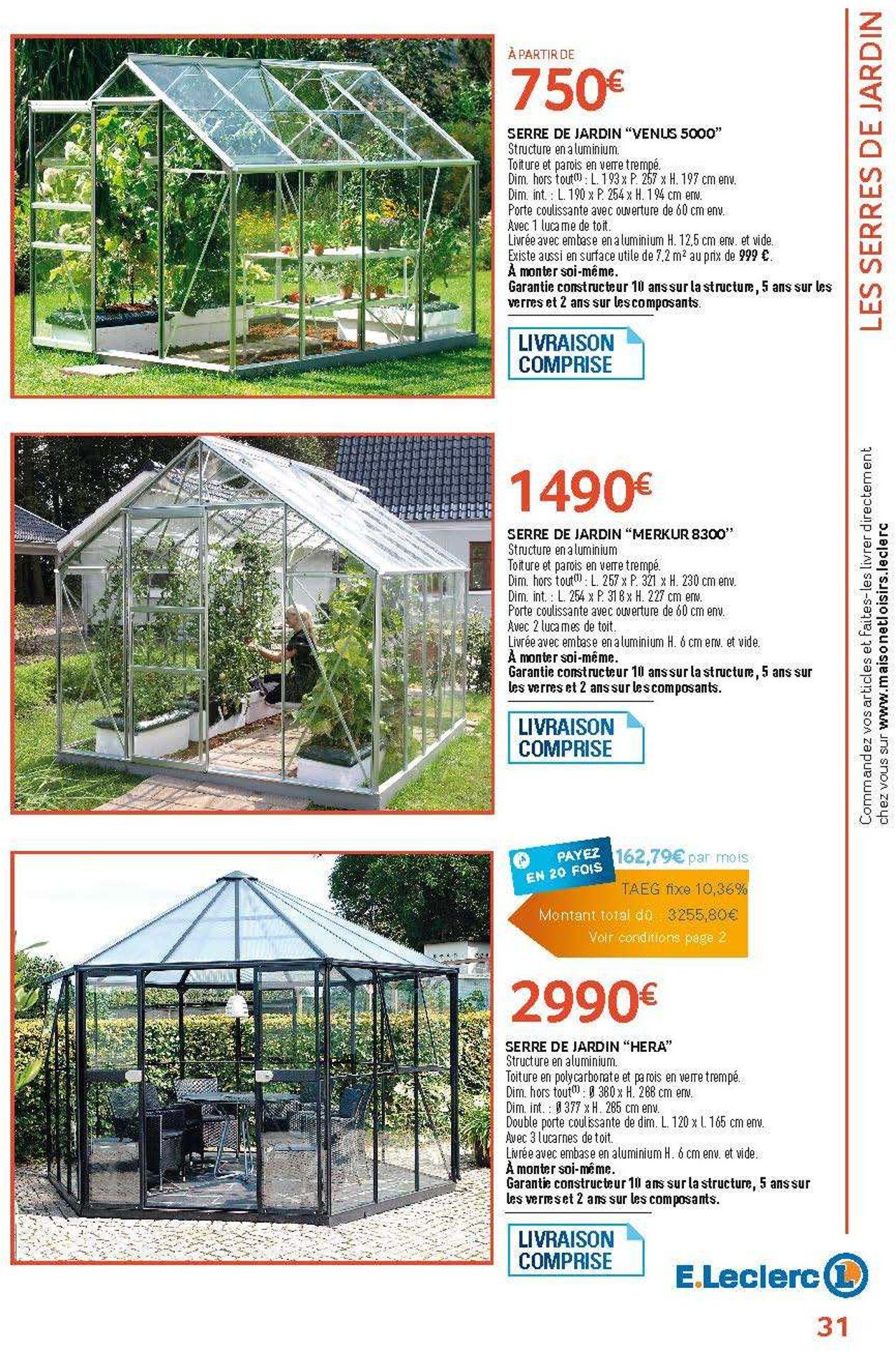 E.leclerc Catalogue Actuel 05.02 - 31.12.2019 [31 ... encequiconcerne Serre De Jardin Polycarbonate Leclerc