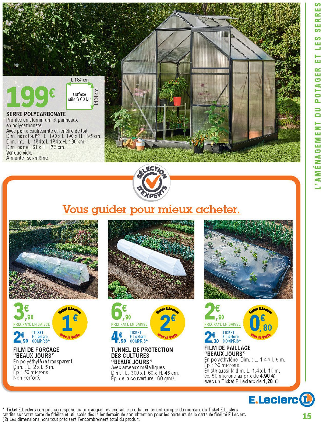 E.leclerc Catalogue Actuel 11.02 - 29.02.2020 [15 ... pour Serre De Jardin Polycarbonate Leclerc