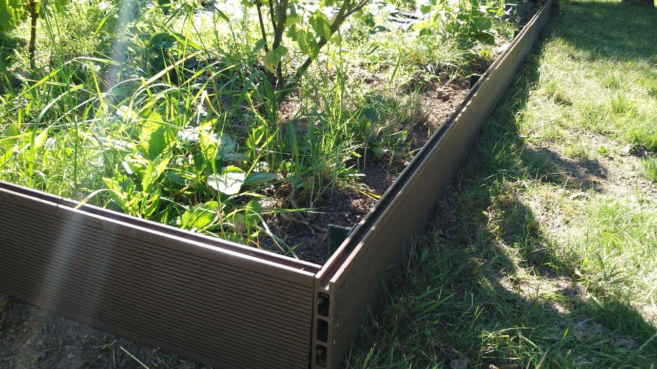 •création De Bordures En Bois Composite serapportantà Faire Une Bordure De Jardin