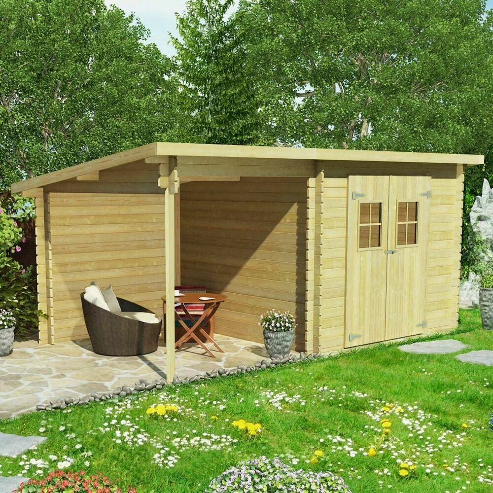 Ebay #sponsored Vidaxl Cabanon De Jardin En Rondins Bois ... pour Abri Jardin Soldes
