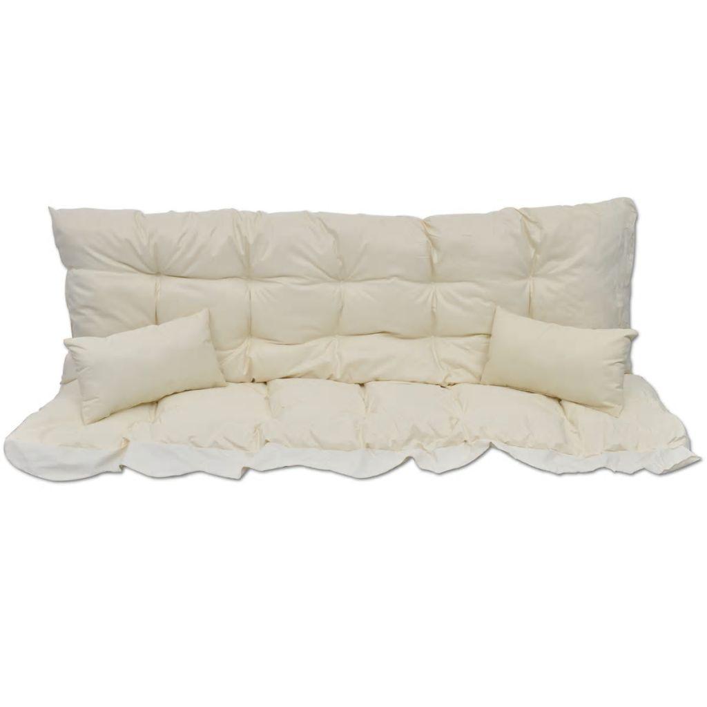 Ensemble De Coussins 4 Pcs Pour Balancelle Blanc Crème Tissu intérieur Coussin Balancelle