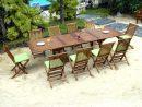 Ensemble En Teck Massif De Jardin Table 200-250-300 Cm Et 10 ... concernant Salon Jardin 10 Personnes