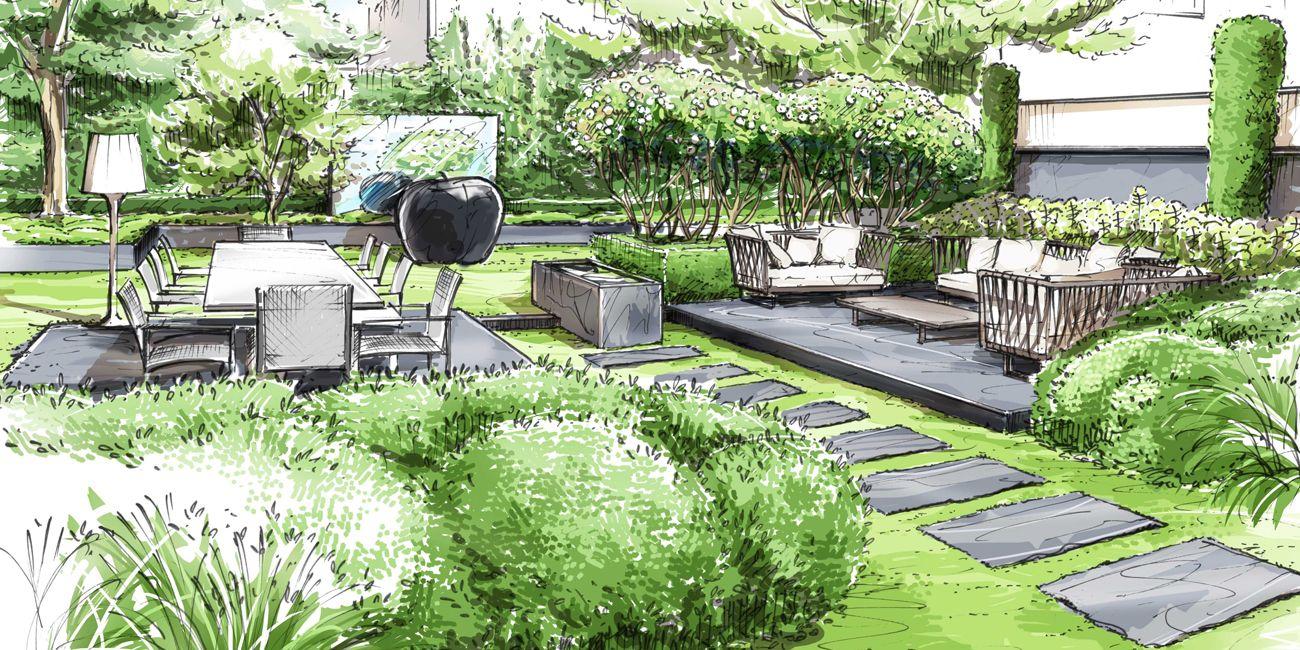 Épinglé Par Lourdes Herreros Sur Diseño De Jardines | Plans ... concernant Architecte Exterieur Jardin