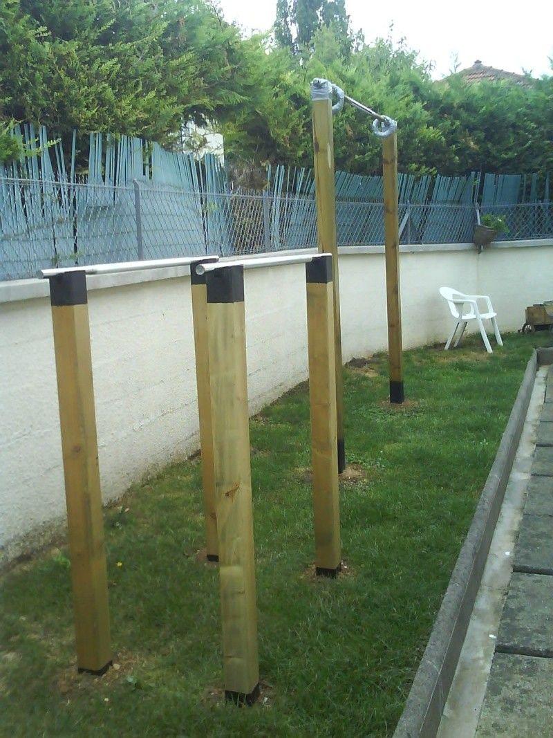 Épinglé Sur Diy pour Barre Traction Jardin